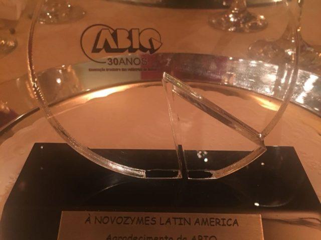 Novozymes recebe reconhecimento da ABIQ